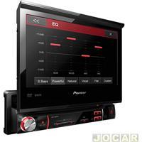 "Dvd Player - Pioneer - Tela De 7"" Touch Screen Retratil - 1 Din / Usb - Cada (Unidade) - Avh-3580Dvd"