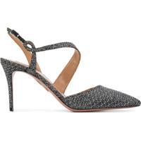 Aquazzura Sapato Com Detalhe Metalizado - Metálico