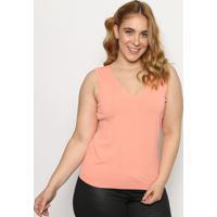 Blusa Lisa Em Tricã´ - Rosa- Cotton Colorscotton Colors Extra