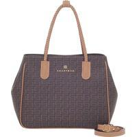Bolsa Smartbag Veneza Chocolate/Couro Camel - 86065.18