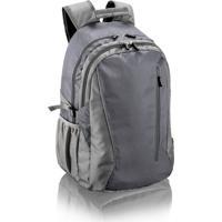 Mochila Multilaser Jacquard Para Notebook Cinza - Bo203