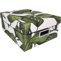 Caixa Organizadora M Amazã´Nia- Verde & Branca- 15X35Boxmania