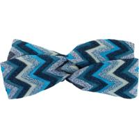 Missoni Headband Com Nó - Azul