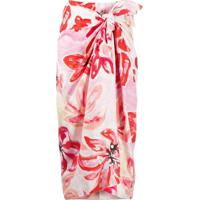Marni Clematis Print Tie-Front Skirt - Branco