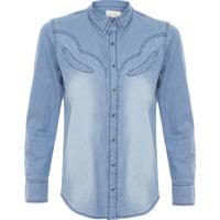 Camisa Feminina Jeans Western - Azul