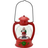 Lanterna Decorativa Papai Noel- Vermelha & Branca- 2Mabruk