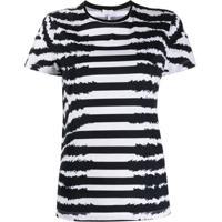 Escada Sport Camiseta Slim Com Listras - Preto