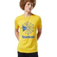 Camiseta Reebok Classics Big Logo Masculina - Masculino-Amarelo