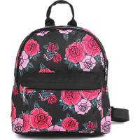 Mochila De Costas Dmw P Liberty Vii Black Capricho Floral Preta