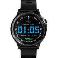 Smartwatch Tomate Monitor Cardíaco Pedômetro Resistente À Água Ip68 - Preto . - Kanui