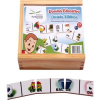 Dominó Educativo Divisão Silábica Jogo Com 28 Peças - Fundamental