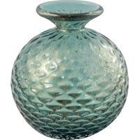 Vaso De Murano Verde Pinheiro Com Ouro Breuil