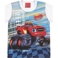 Camiseta Carros- Azul & Vermelha- Primeiro Passoskamylu'S