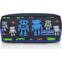 Estojo Infantil Robô Jacki Design Sapeka Azul - Kanui
