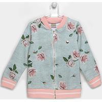 Jaqueta Infantil Marlan Bomber Floral Feminina - Feminino