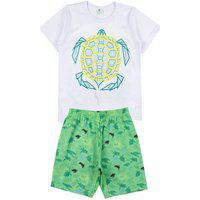 Conjunto Infantil Tartaruga Branco A201030 - Ease Kids