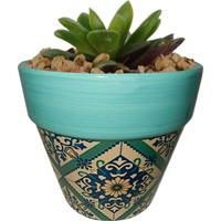 Cachepot Urban Home De Cerâmica Verde Tile Cone N