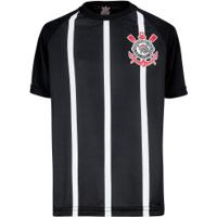 Camiseta Do Corinthians Stripes - Infantil - Preto