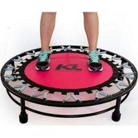 Mini Cama Elástica Trampolim Jump Profissional 150 Kg + Dvd - Unissex-Rosa