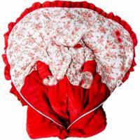 Kit I9 Baby Saída De Maternidade Porta Bebê Plush Vermelho