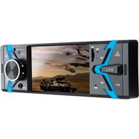 Som Automotivo Groove Tela 4 Pol. 1 Din Bluetooth Mp5 4X45Wrms Rádio Fm + Entrada Cartão Sd + Usb + Aux App Multilaser - P3341 P3341