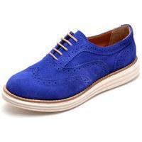 Sapato Oxford Q&A 300 Couro Camurça Bic