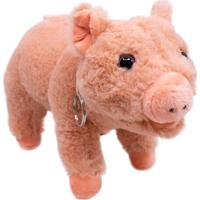 Pelúcia Minas De Presentes Porco Marrom - Kanui