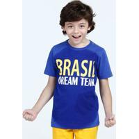 Camiseta Infantil Estampa Brasil Manga Curta Marisa