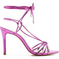 Sandália Lace Up Strings Metallic Mix Schutz S020660272