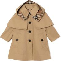 Burberry Kids Casaco Swing - Neutro