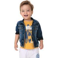 Jaqueta Bebê Menino Em Moletom Jeans Puc [] []