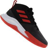 Tênis Cano Alto Adidas Own The Game - Masculino - Preto/Vermelho