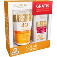 Kit L'Oreal Loção Repelente Solar Fps40 + Protetor Solar Facial Antirrugas Fps30 1 Unidade