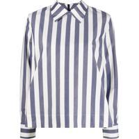 Ymc Camisa Com Listras - Azul