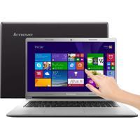 "Notebook Lenovo S400-80A10000Br - Intel Core I3-3217U - Hd 500Gb - Ram 4Gb - Led 14"" Touchscreen - Windows 8"