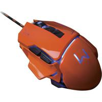 Mouse Gamer Warrior 3200 Dpi Laranja Usb Mo263 Multilaser
