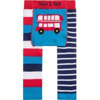 Meia Calça Legging Ônibus Blade And Rose Azul