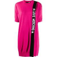 Love Moschino Vestido Com Logo - Rosa