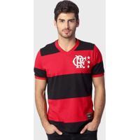 Camiseta Flamengo Retrô Libertadores - Masculino-Preto+Vermelho