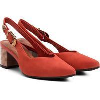 Scarpin Dakota Salto Médio Chanel Bico Fino - Feminino-Coral