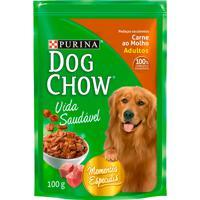 Ração Para Cães Dog Chow Vida Saudável Adultos Sachê Sabor Carne Ao Molho Com 100G