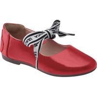 Sapato Em Couro Com Amarração- Vermelho & Brancolilica Ripilica E Tigor T. Tigre