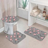 Jogo Tapetes Para Banheiro Flamingos Geo - Único
