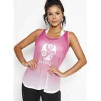 Regata Texturizada Degrade- Rosa & Branca- Physical Physical Fitness