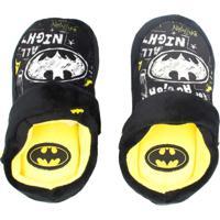 Pantufa Infantil Chinelo Kick Ricsen Batman Preto