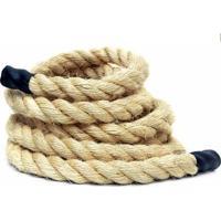 Corda De Sisal Para Escalada E Funcional - Crossfit Rope Climb 38Mm X 4 Metros - Unissex