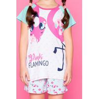 Pijama Flamingo - Verde Água & Rosa Claropuket