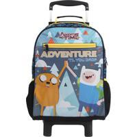 Mochila De Rodinha ''Adventure Time®''- Azul Escuro & Amdmw