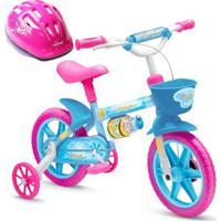 Bicicleta Infantil De 3 A 5 Anos Aro 12 Aqua + Capacete - Feminino