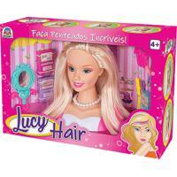 Boneca Lucy Hair Braskit Com Acessórios Rosa